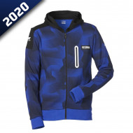 audemar:SWEAT CAMO CAPUCHE HOMME SHEF-YAMAHA PADDOCK BLUE 2020