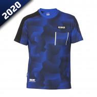 audemar:T-SHIRT CAMO HOMME DURHAM-YAMAHA PADDOCK BLUE 2020