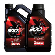 audemar:HUILE MOTEUR 5L 10W40 4T 100% Synthèse MOTUL 300V Road Racing