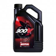 audemar:HUILE MOTEUR 4 L 15W50 4T 100% Synthèse MOTUL 300V Road Racing